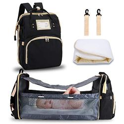FEI STUDIO Diaper Bag Backpack Foldable Baby Bed Changing Station Portable Crib Sleeper for Sale in Missouri City,  TX