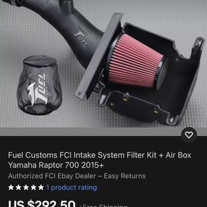 Fuel Customs FCI Intake System Filter Kit + Air Box Yamaha Raptor 700 06-14 for Sale in Seattle, WA