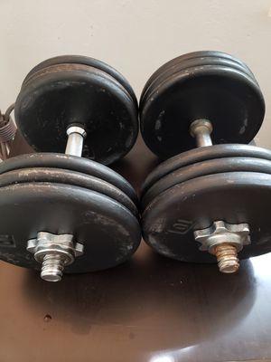 Adjustable dumbbells set for Sale in Hayward, CA