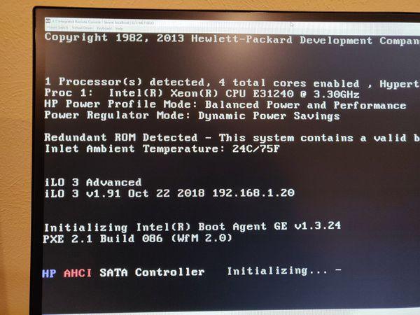 HP server ML110 G7