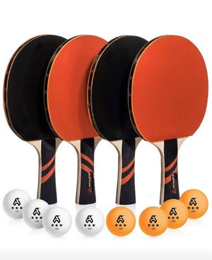 NEW BOX -Ping pong set with 2 pairs and 8 balls for Sale in Piscataway, NJ