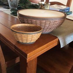 Longaberger Oval Basket Set for Sale in Lake Stevens,  WA