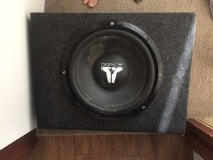 2 12 inch subs with amp and all wires for Sale in Montrose, CO
