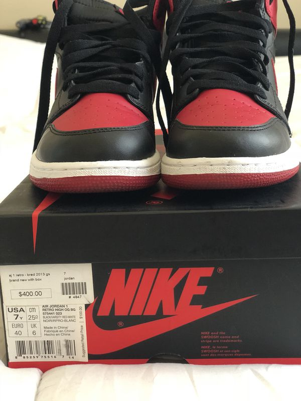 sports shoes 519e6 9c479 AIR JORDAN 1 BRED 2013 for Sale in Portland, OR - OfferUp