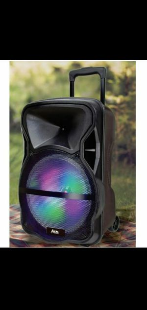 """New 15"""" subwoofer rechargeable, bluetooth, aux, usb, sd,fm,microphone for Sale in Riverside, CA"""