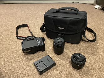 BARELY USED - Canon EOS T7i DSLR Camera with 18-55mm IS STM Lens + 2 x 32GB Card + Accessory Kit for Sale in Piedmont,  CA