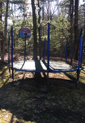 Trampoline with basketball hoop for Sale in Ashland, MA