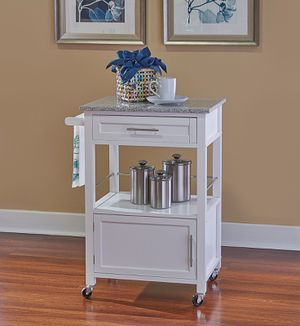Linon Mitchell Kitchen Cart with Granite Top, 36 inches High for Sale in Houston, TX