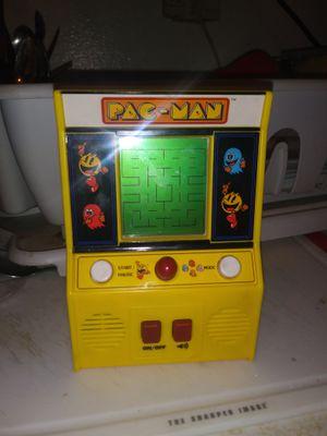 Bandai Namco Pac-Man Mini Stand up Arcade Handheld Electronic Game Yellow 09521 for Sale in Phoenix, AZ