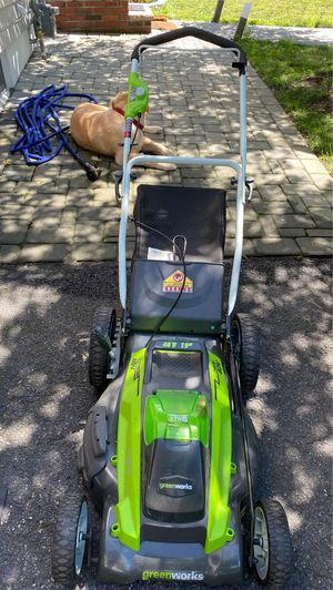 Green works lawn mower for Sale in Cliffside Park, NJ