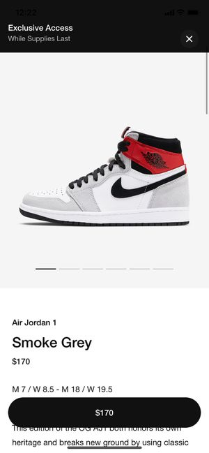 Air Jordan 1 OG Smoke grey DS for Sale in Chula Vista, CA