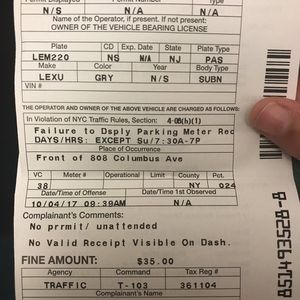 Parking Tickets for Sale in Queens, NY