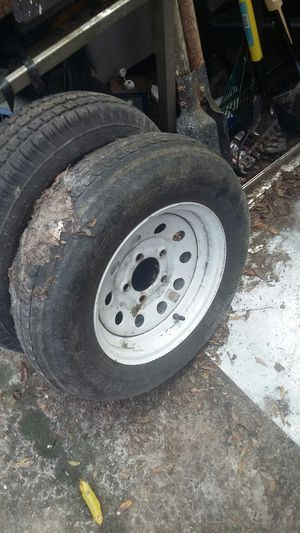 Trailer rim and tire for Sale in Brooksville, FL
