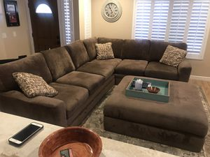 Sectional Sofa and Ottoman for Sale in Peoria, AZ