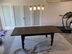 Solid Wood Farmhouse Extending Dining Table for Sale in Melbourne Beach, FL