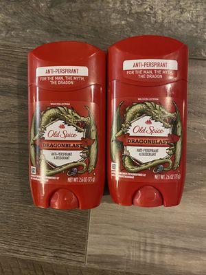 Old spice dragonblast anti perspirant & deodorant $3 each for Sale in San Bernardino, CA