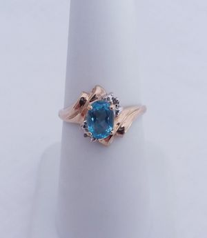 1.25 carat topaz and diamond ring 10k yellow gold retail price $400 my price only $175! Local pickup or I SHIP through OfferUp for Sale in Comstock Park, MI