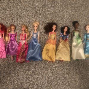 Set of 8 Disney Princess Barbies for Sale in Virginia Beach, VA