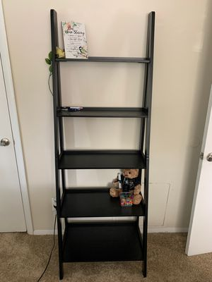 Brand New 5 Tier Black Wood Ladder Shelf (New in Box) for Sale in Wheaton-Glenmont, MD