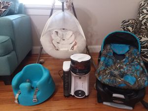 Swing, car seat an cover, baby Brezza an bumbo seat. for Sale in Forest Hill, LA