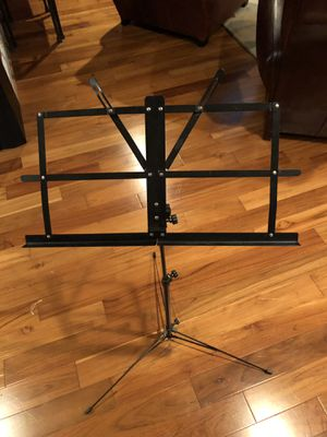 Music stand. Telescoping stand. Adjustable and collapsible. Easy to store and travel with. for Sale in Gambrills, MD