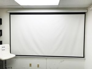 "New $75 Manual Pull Down 120"" Projector Screen 16:9 Ratio Projection Home Theater Movie for Sale in Whittier, CA"
