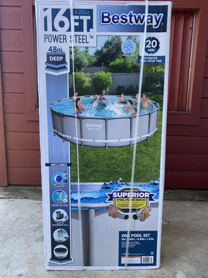 Bestway 16ft x 48in Round Steel Frame Pool 🏊‍♀️ for Sale in Rancho Cucamonga, CA