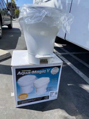 The TFord Aqua-Magic Y RV toilet for Sale in Torrance, CA