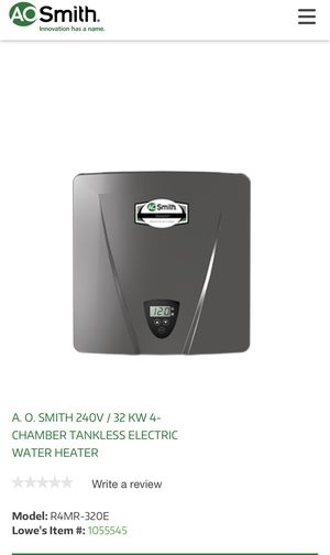 Electric Tankless Water heater for Sale in Seattle, WA