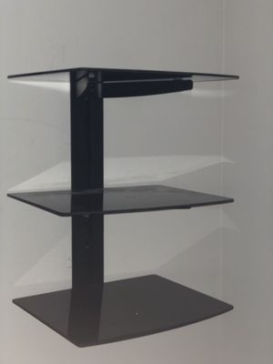 WALI Floating Wall Mounted 3 black tv Shelves with Strengthened Tempered Glasses for Sale in North Olmsted, OH