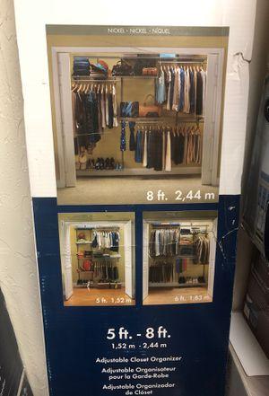 Closet maid shelf track nickel 5ft. - 8ft. Adjustable closet organizer for Sale in Phoenix, AZ
