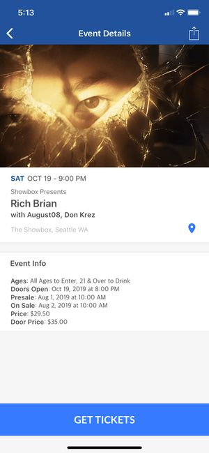rich brain tickets for Sale in Redmond, WA