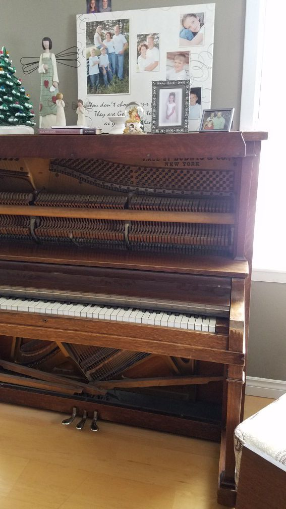 Vintage piano, turned to a desk