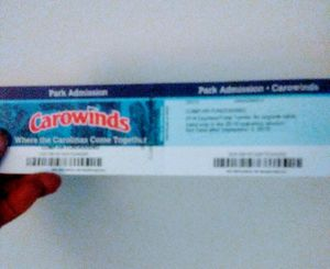Carowinds ticket half Off $20. One Ticket Left for Sale in Charlotte, NC
