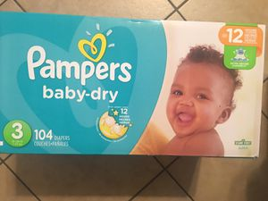 Pampers box size 3 for Sale in Fort Worth, TX
