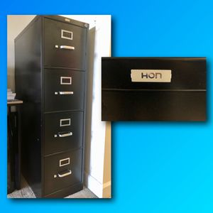 Metal File Cabinet With a Lock for Sale in Potomac, MD