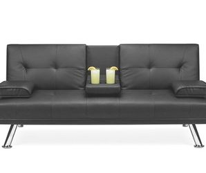 Faux Leather Upholstered Modern Convertible Folding Futon Sofa Bed for Compact Living for Sale in Los Angeles,  CA