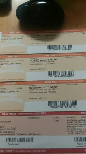 3 Kings Dominion fright fest tickets for Sale in Alexandria, VA