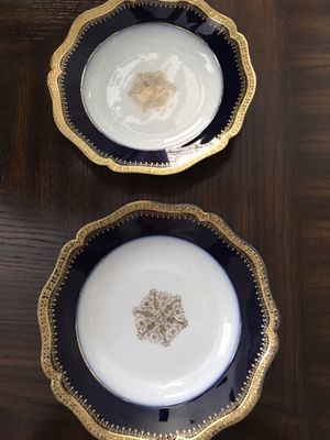 Limoges cobalt blue and gold China for Sale in Crandall, TX