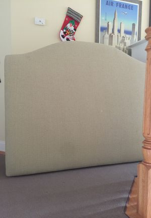 Queen custom made padded headboard for Sale in Sudbury, MA