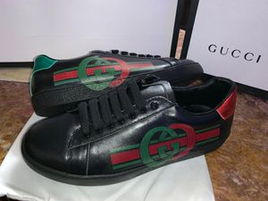 Gg ace interlocking g black sneakers for Sale in San Jose, CA