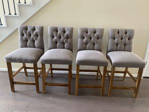 4 set counter height barstools for Sale in Spring, TX