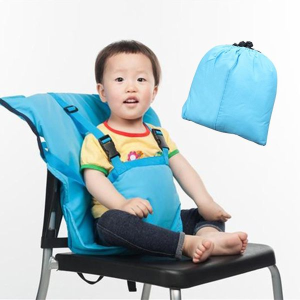 Baby Bag Portable Infant Feeding Seat Safety Belt Booster Seats Foldable Washable Dining Lunch Feeding Harness High