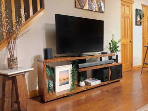 Tri-Level Media Console | Modern TV Stand | Handmade Entertainment Center for Sale in Seattle, WA