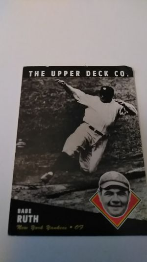 Upper Deck #60 *Babe Ruth for Sale in Shelton, CT