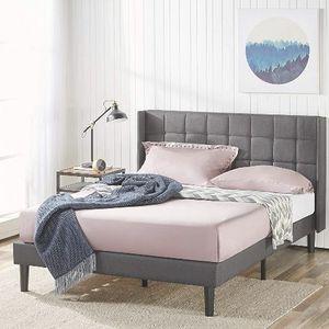 King Size Upholstered Bed Frame **Brand New In Unopened Box** Slight Damage!!! I Deliver for Sale in Bedford, OH