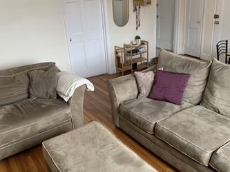 3-piece Suede Couch! for Sale in Boston,  MA