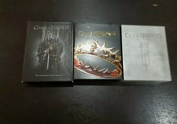 Game Of Thrones Season 1,2,3 DVD and Bluray