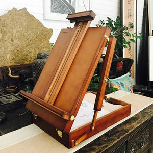 Wooden Laptop Box Easel Painting For Watercolor Hardware Accessories Multifunctional Painting Suitcase Art Supplies Artist for Sale in Bethesda, MD