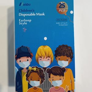 Children 3-Ply Disposable Face Mask - 25pcs Individually Sealed Mask for Sale in Boyds, MD